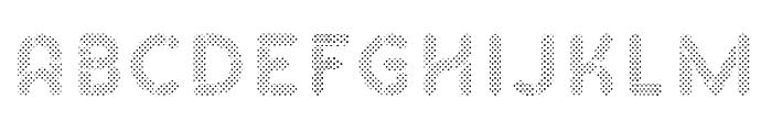 Skrova Fill Dotted Font UPPERCASE