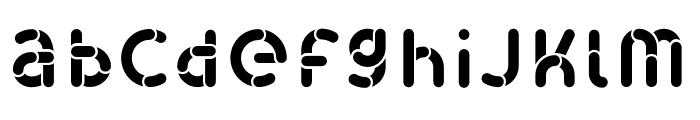 Skrova Fill Solid Font LOWERCASE