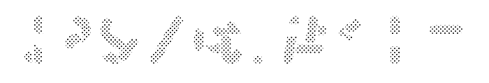 Skrova Parts Fill Dotted 1 Font OTHER CHARS
