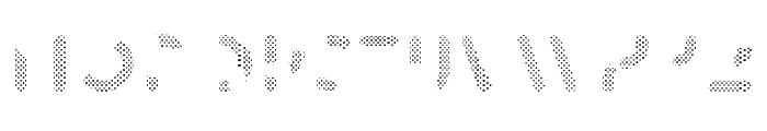 Skrova Parts Fill Dotted 1 Font UPPERCASE