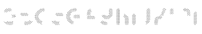 Skrova Parts Fill Dotted 1 Font LOWERCASE