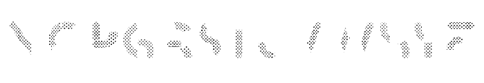 Skrova Parts Fill Dotted 2 Font UPPERCASE
