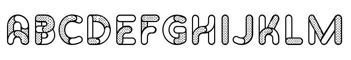 Skrova Parts Outline Dotted 1 Font UPPERCASE