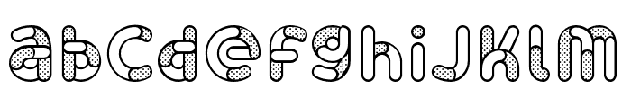 Skrova Parts Outline Dotted 2 Font LOWERCASE