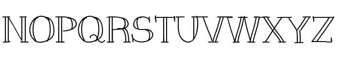 Slim Font UPPERCASE