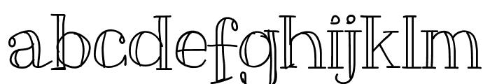 Slim Font LOWERCASE
