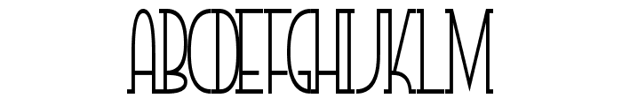 SmallTall Font UPPERCASE