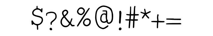 Smart Chameleon Font OTHER CHARS