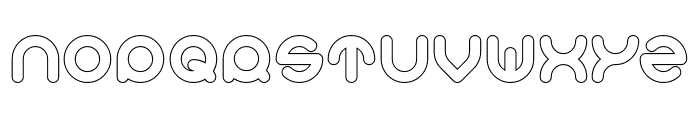 Smiley Turtle-Hollow Font UPPERCASE