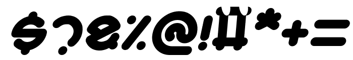 Smiley Turtle Italic Font OTHER CHARS