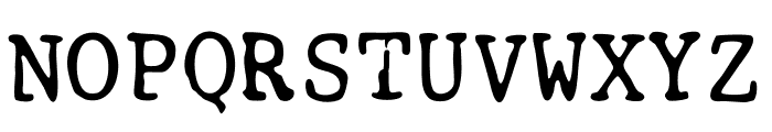 Smith-Corona EC1100 Prestige Font UPPERCASE