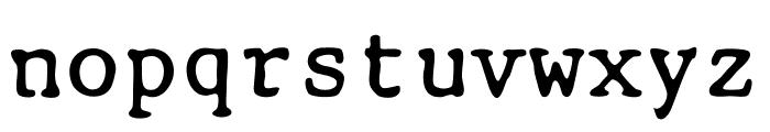 Smith-Corona EC1100 Prestige Font LOWERCASE