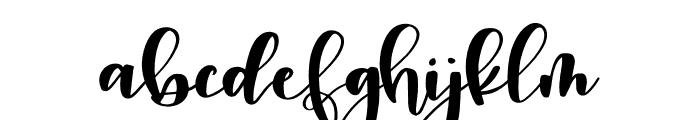 Snuggle Regular Font LOWERCASE