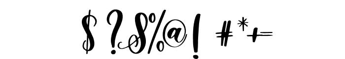 Snuggle Stitched Regular Font OTHER CHARS