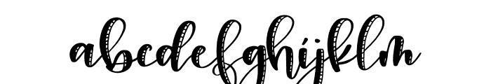 Snuggle Stitched Regular Font LOWERCASE