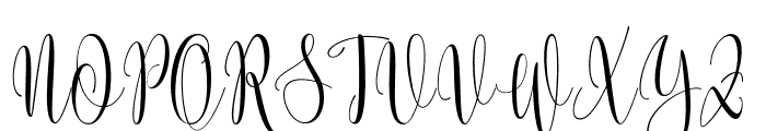 Someday Font UPPERCASE