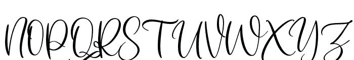 SomedayScript Font UPPERCASE