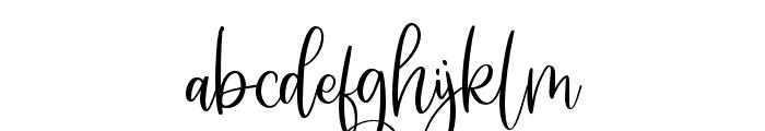 SomedayScript Font LOWERCASE