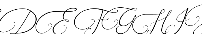 Southfall Slant Font UPPERCASE
