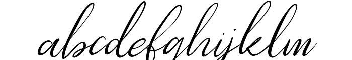 Southfall Slant Font LOWERCASE