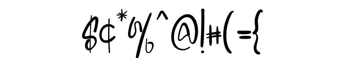 Special Designer Font OTHER CHARS