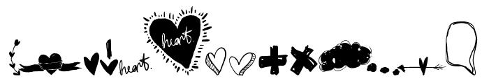 Speechless Heart Font UPPERCASE