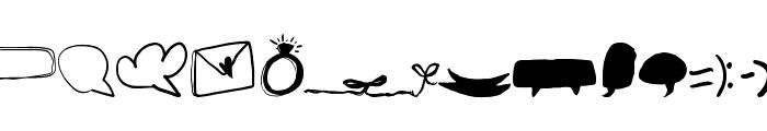 Speechless Heart Font LOWERCASE