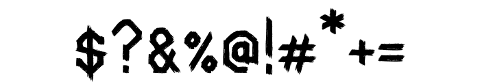 Spookhaus Regular Font OTHER CHARS