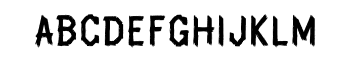 Spookhaus Regular Font LOWERCASE