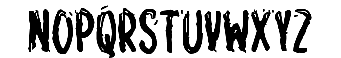 Spooky Home Font UPPERCASE