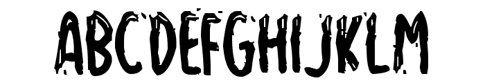 Spooky Home Font LOWERCASE