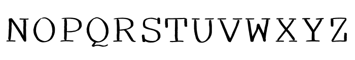 Spooky Medium Font UPPERCASE