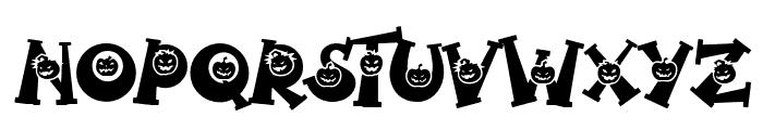 Spooky Pumpkin alternates 2 Regular Font UPPERCASE