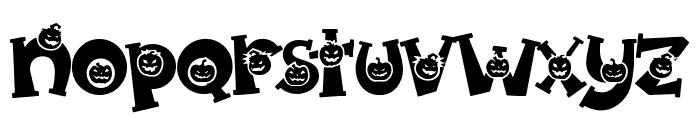 Spooky Pumpkin alternates 2 Regular Font LOWERCASE