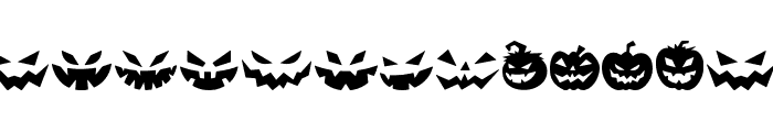 Spooky Pumpkin icon Regular Font UPPERCASE