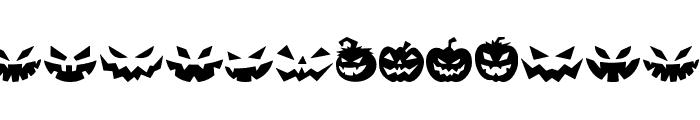 Spooky Pumpkin icon Regular Font LOWERCASE