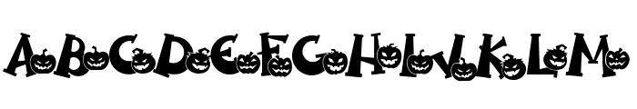 Spooky Pumpkin swash Regular Font UPPERCASE
