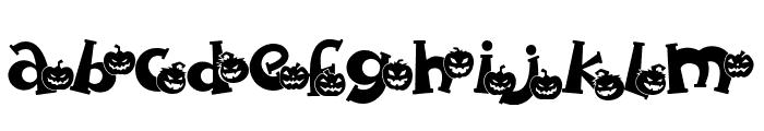 Spooky Pumpkin swash Regular Font LOWERCASE