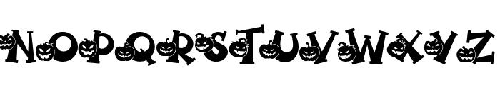 Spooky Pumpkin titling Regular Font UPPERCASE