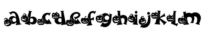 Spooky Pumpkin titling Regular Font LOWERCASE