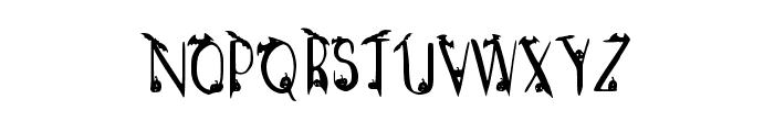 Spooky Regular Font UPPERCASE