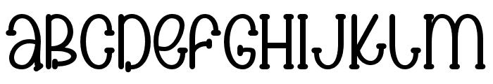 Spooky cute Regular Font LOWERCASE