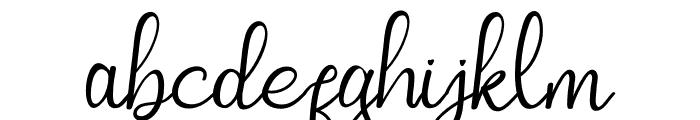 Squash Spread Font LOWERCASE
