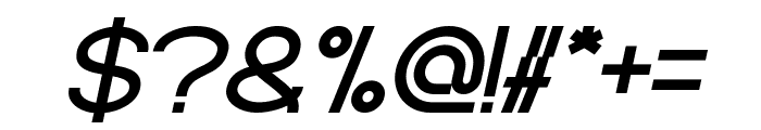 Standard International Bold Italic Font OTHER CHARS