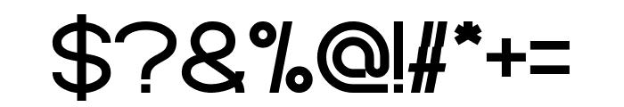 Standard International Bold Font OTHER CHARS
