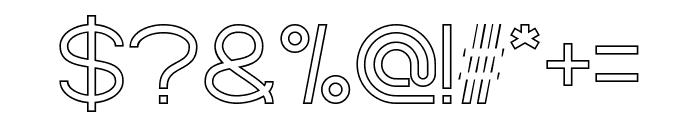 Standard International-Hollow Font OTHER CHARS
