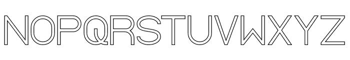 Standard International-Hollow Font UPPERCASE