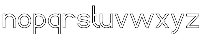 Standard International-Hollow Font LOWERCASE