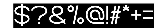 Standard International-Inverse Font OTHER CHARS