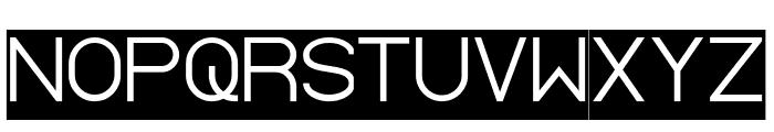Standard International-Inverse Font UPPERCASE